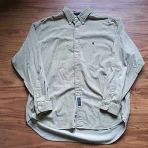 Vintage tan polo Ralph Lauren corduroy Button Up